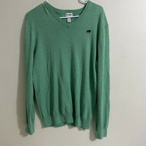 Old Navy Green V-Neck Pullover Sweater